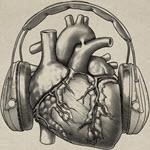 Hjärta med hörselskydd.